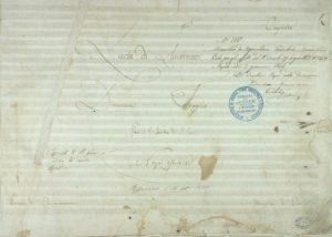 Lucia di Lammermoor, frontespizio della partititura autografa